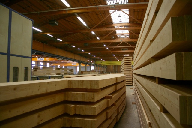Stacked panels - not the glulam factory roof